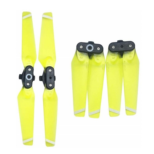 ملخ اسپارک رنگ آبی – dji-spark-4730f-yellow-propellers-transparent-2 – domzik-com -3