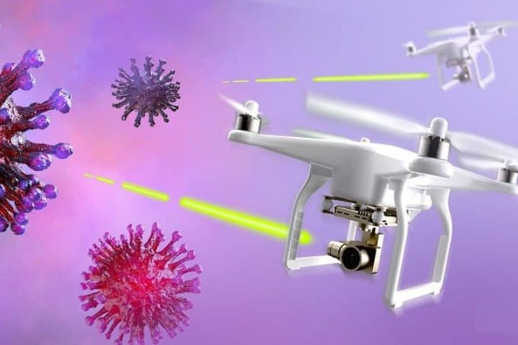 Using drone to fight the Corona virus